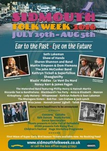 Sidmouth Folk Festival poster