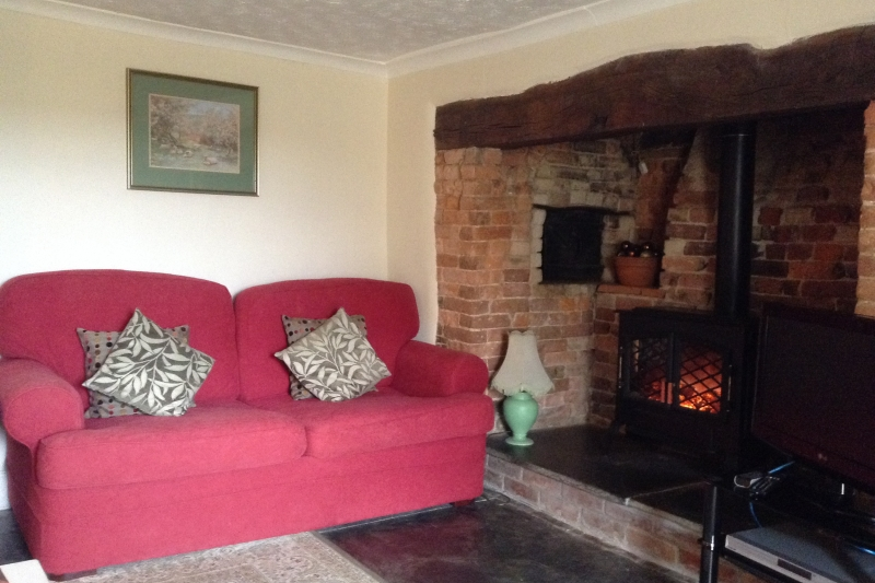 Lounge with inglenook fireplace