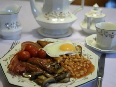 enjoy an english breakfast at forda farm bed and breakfast with it's 4 star silver award.