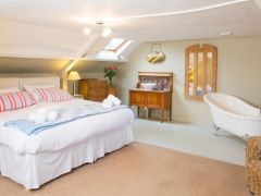 Attic room with slipper bath