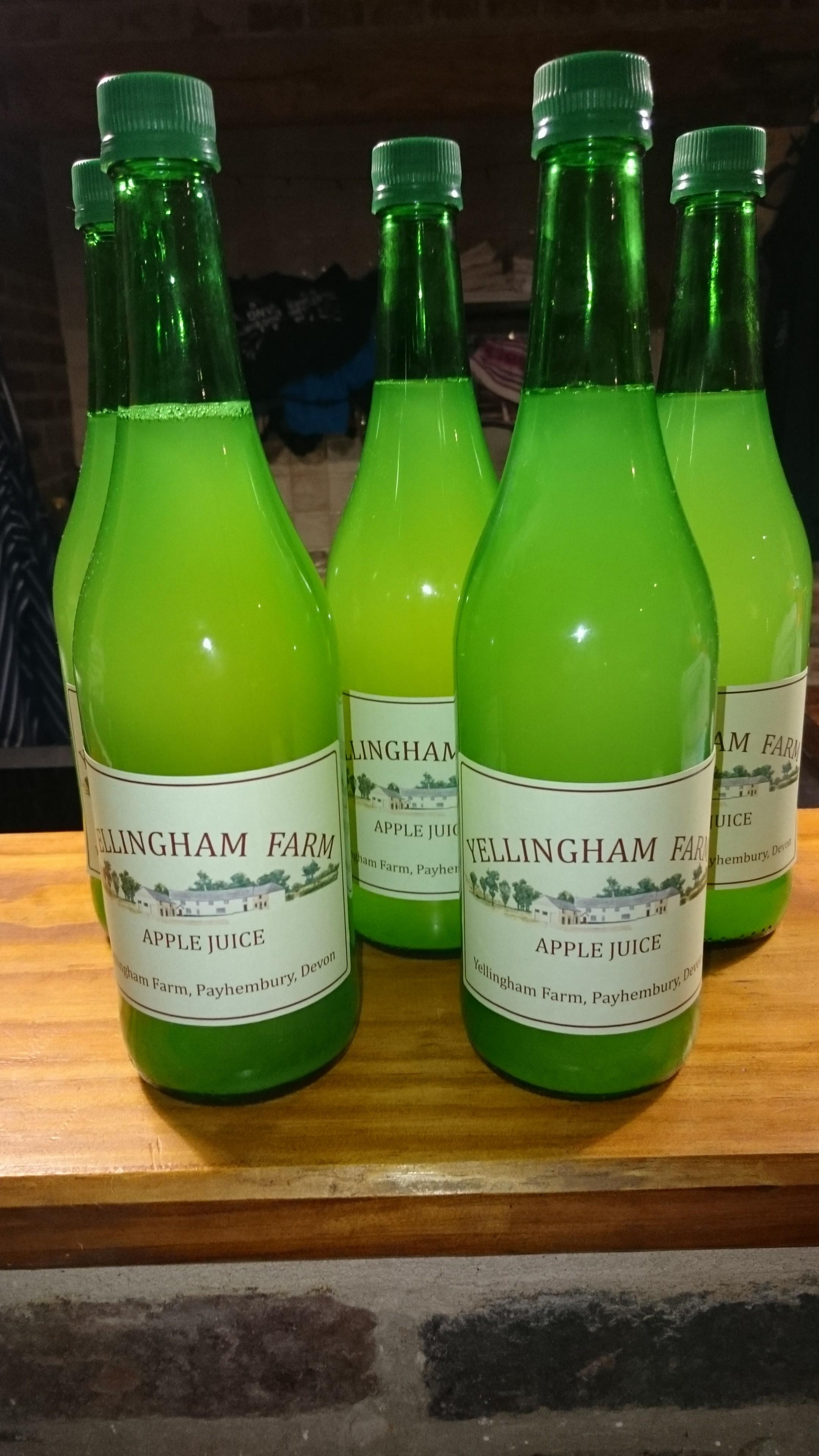 Yellingham apple juice bottles