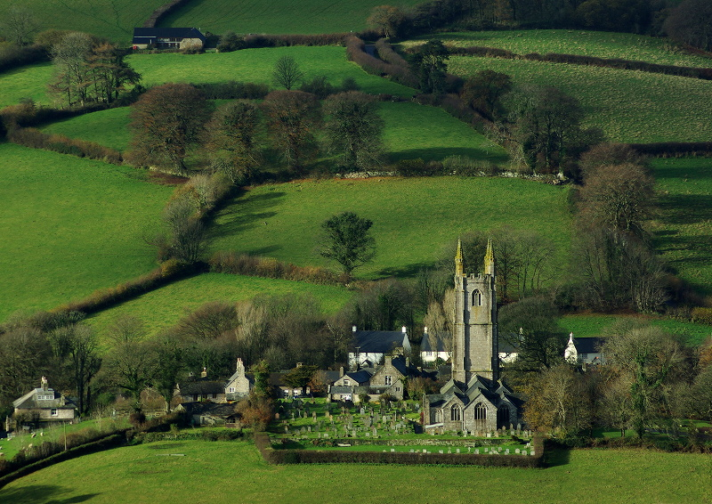 Widecombe church