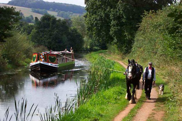 Horse Drawn Barge - Tiverton