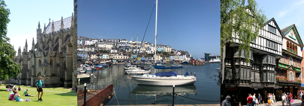 Photos of fishing towns, cities and villages in South Devon